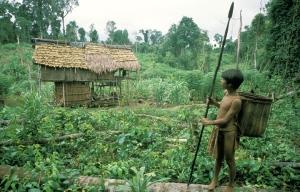 Rumah Ladang & pemuda Orang Rimba - Sako Jernang Foto Alain Compost. Dok KKI Warsi